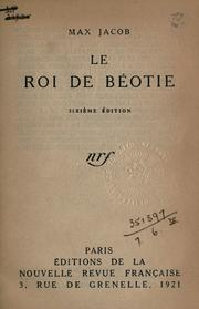 Cover of: Le roi de Béotie