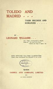 Cover of: Toledo and Madrid | Williams, Leonard