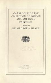Cover of: Catalogue of the collection of foreign and American paintings owned by Mr. George A. Hearn