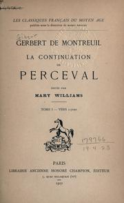 Cover of: La continuation de Perceval