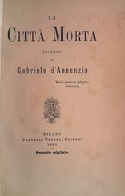 Cover of: La cittá morta: tragedia.