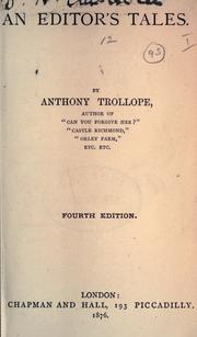 Cover of: An editor's tale