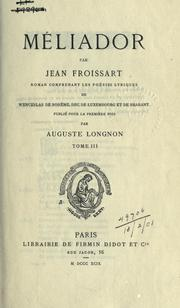 Cover of: Méliador