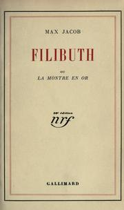 Cover of: Filibuth: ou, La montre en or