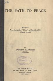 Cover of: The path to peace. | Andrew Carnegie