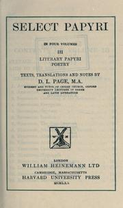 Select papyri by Arthur Surridge Hunt