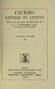 Cover of: Letters to Atticus by Cicero