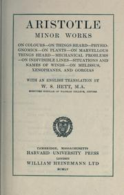 Cover of: Minor works