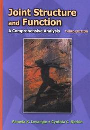 Cover of: Joint structure and function