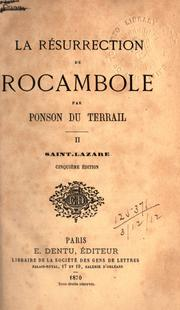 Cover of: La résurrection de Rocambole