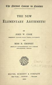 Cover of: new elementary arithmetic | John W. Cook
