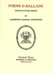 Cover of: Poems & ballads by Swinburne, Algernon Charles