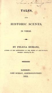 Cover of: Tales and historic scenes in verse