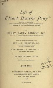 Cover of: Life of Edward Bouverie Pusey