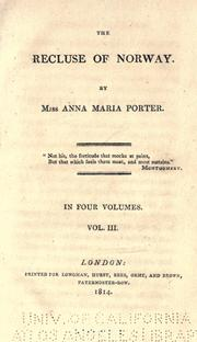 Cover of: recluse of Norway. | Anna Maria Porter