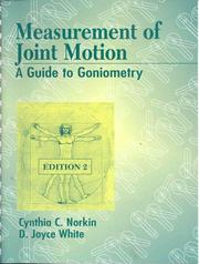 Cover of: Measurement of joint motion: a guide to goniometry