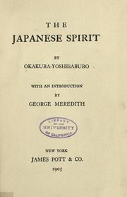 Cover of: The Japanese spirit