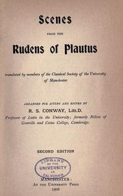 Cover of: Scenes from the Rudens of Plautus | Titus Maccius Plautus