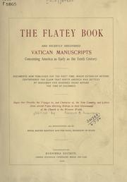 Cover of: The Flatey book and recently discovered Vatican manuscripts concerning America as early as the tenth century