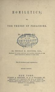 Cover of: Homiletics; or, The theory of preaching
