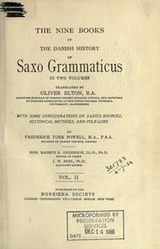 Cover of: The nine books of the Danish history of Saxo Grammaticus..