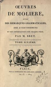 Cover of: Oeuvres de Molière