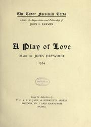Cover of: A play of love