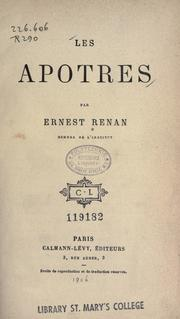 Cover of: Les apotres