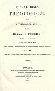 Praelectiones theologicae by Perrone, Giovanni