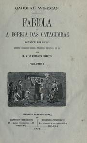 Cover of: Fabiola; or, The Church of the catacombs