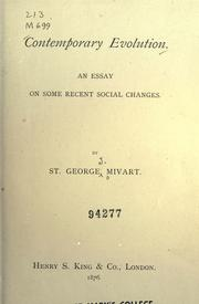 Cover of: Contemporary evolution by St. George Jackson Mivart