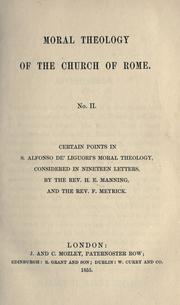 Cover of: Moral theology of the Church of Rome