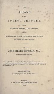 Cover of: The Arians of the fourth century | John Henry Newman