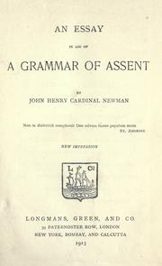 Cover of: An essay in aid of a grammar of assent by John Henry Newman
