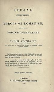 Cover of: Essays (third series) on the errors of Romanism, having their origin in human nature