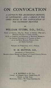 Cover of: On convocation by William Stubbs