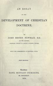 Cover of: An essay on the development of Christian doctrine | John Henry Newman
