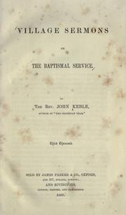 Cover of: Village sermons on the Baptismal service