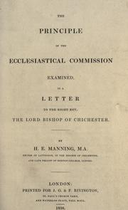 Cover of: The principle of the ecclesiastical commission examined