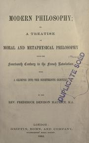 Cover of: Modern philosophy