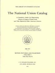 Cover of: The National union catalog |