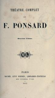 Cover of: Théatre complet