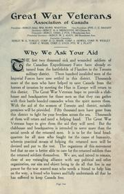 Cover of: Why we ask you aid. -- | Great War Veterans