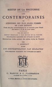 Cover of: Les contemporaines