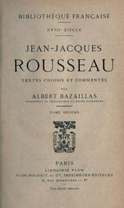 Cover of: Jean-Jacques Rousseau