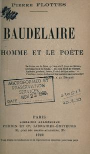 Cover of: Baudelaire