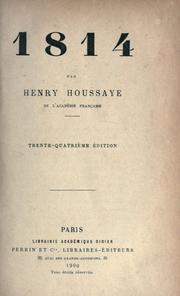 1814 by Henry Houssaye