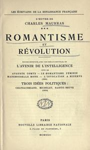 Cover of: Romantisme et révolution