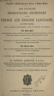 Cover of: standard pronouncing dictionary of the French and English languages. | Gabriel Surenne