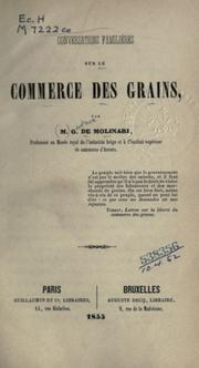 Cover of: Conversations familières sur le commerce de grains